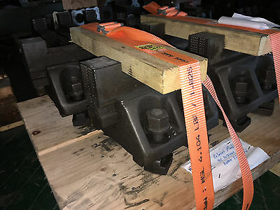 "Vertical Boring Mill Face Plate Jaws 6"" T-slot separation Set of 4"