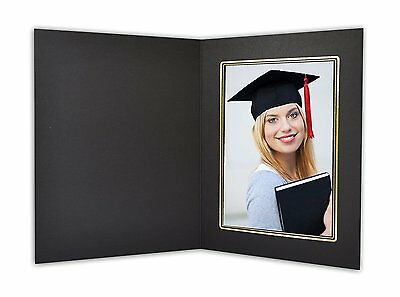 Cardboard Photo Folder For a 5x7 Photo (Pack of 50) GS001 Black Color