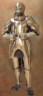 Medieval Wearable Knight Full Armor Suit Armor Costume With Chain Mail 6 Feet
