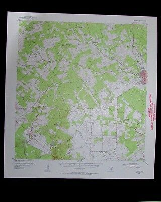 Fleming Texas vintage 1956 old USGS Topo chart very detailed map