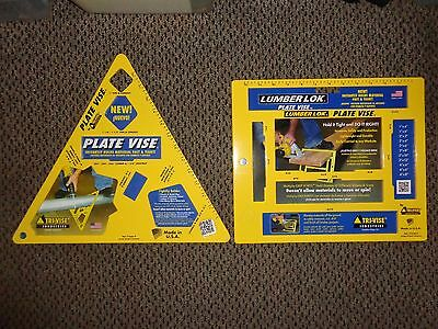 Tri Vise Angle Plate & Lumber Lok Heavy Duty Contractors/Handymen Made In USA !!
