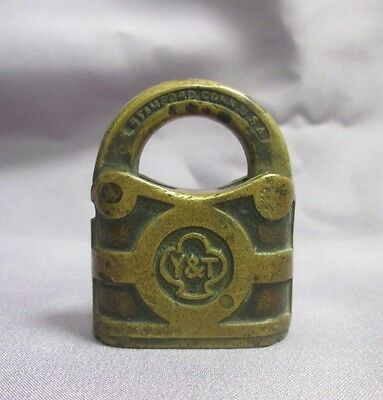 Antique Y&T Yale & Towne Padlock Lock No Key