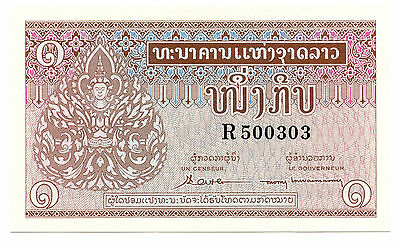 Laos 1 Kip - Currency Bank Note - Banque National - KX791