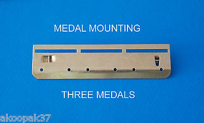 Bar 3 Space Medal Mounting (Fs) Court Military Mount Medals Military Brass New