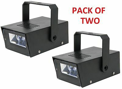 pack of 2 MINI LED STROBE LIGHT MULTI-SPEED FLASHING LIGHT EFFECT DJ PARTY DISCO