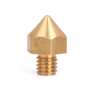 0.3mm Copper Extruder Nozzle Print Head for 3mm Filament 3D Printer Gold Hot
