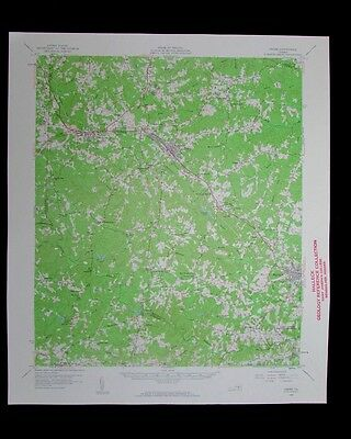 Crewe Virginia vintage 1959 old USGS Topo chart very detailed map