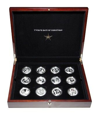 Niue 2010 $2 Fine Silver Proof Set 12 Days of Christmas Coin Collection 12 Coins
