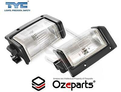 Nissan D21 PathFinder 1988~1995 Pair LH+RH Corner Light Park Lamp Black Trim