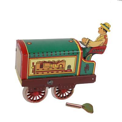 Clockwork Tin Toys Tractor Wind-up Key Tractor Vintage Metal Toy Collectible
