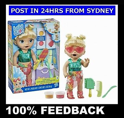 New Baby Alive Tea Party Surprise Baby Girl Doll w/ Teacup Nappy ~ Drinks & Wets