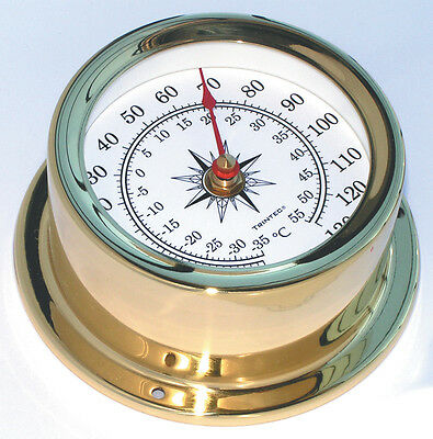 Trintec Euro-03 Marine Solid Brass Instruments Thermometer  5 Styles To Choose