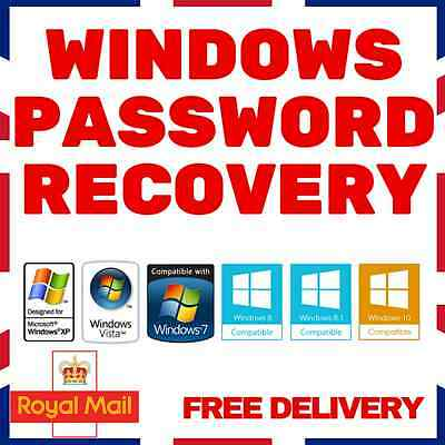 ✅ Windows Password Recovery / Remove / Reset CD Disc for XP, VISTA, 7, 8 and 10