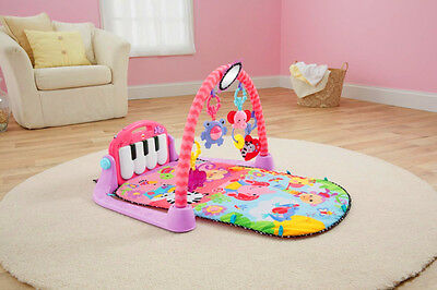 Fisher-Price Kick and Play Piano Gym Pink Baby Toddler Musical Activity Mat Gift
