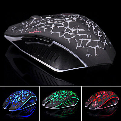 2.4GHz M6 Rechargeable LED Wireless Silent Optical Gaming Mouse For PC Laptop SH