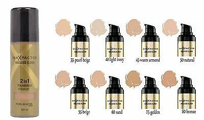 Max Factor Ageless Elixir 2 in 1 Foundation + Serum Natural ,  Golden ,  Ivory