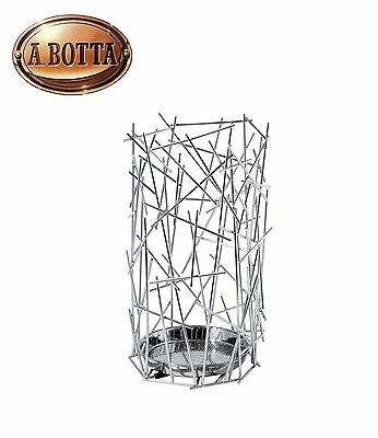 Umbrella Stand  Alessi original FC07 Blow Up  in Stainless Steel Chrome-Plated