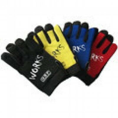 QSP Mechanic Gloves #M Blue