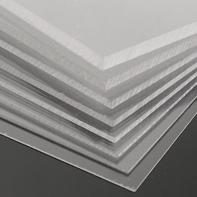 New 1-10mm 500x500mm Acrylic Perspex Sheet Cut to Size Panel Plastic Satin Gloss