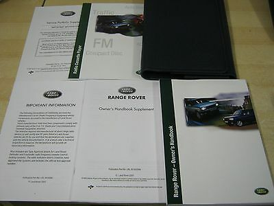 Range Rover P38  Handbook Pack  Owners Manual 1998-2004 Covers Radio System