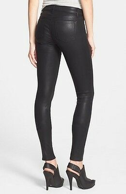 J BRAND Skinny faux Leather Coated Fearless Jeans Women slim Legging pants NEW