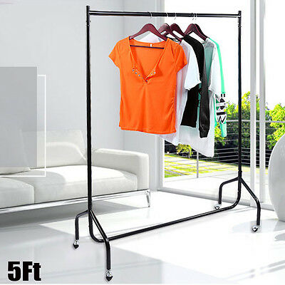 Clothes Rack Metal Garment Display Rolling Home Portable Rail Hanger Dryer Stand