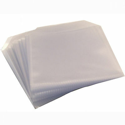 100 x High Quality CD DVD Clear Plastic Sleeves Wallet Cover Case 100 micron