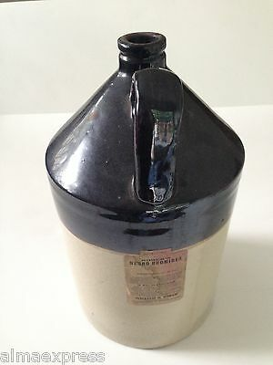 Antique Rorers Neuro Bromides 2-Gal Stoneware Advertising Pharmacy Jug Phila PA