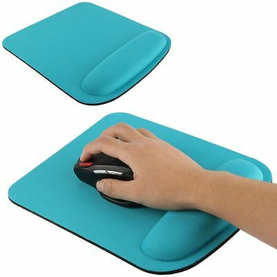 Tapis de souris ergonomique repose poignet ultra fin confort optimal bleu