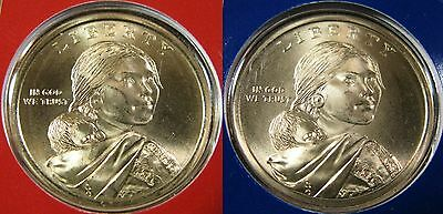 2009 P D Native American Sacagawea Dollar's 2 Brilliant Uncirculated Mint Coin's