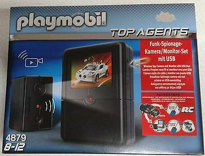 Playmobil Top Agents 4879 Funk-Spionage-Kamera/Monitor-Set mit USB OVP