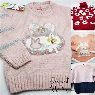 Baby Boys Girls Jumper Cardigan Baby High Polo Neck Knitwear Warm Winter Clothes
