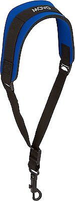 Movo MS-20R-B Neoprene Instrument Strap for Saxophones Clarinets Blue/Short