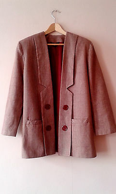 80s vintage 30s art deco influenced open jacket 14 16 new wave modernist arty
