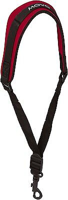 Movo MS-20R-R Neoprene Instrument Strap for Saxophones Clarinets Red/Short