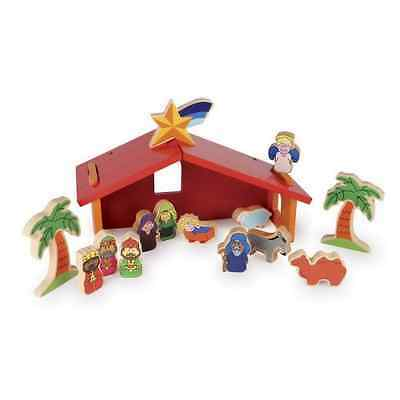 Small foot company 5262 Wooden Nativity Manger with Figures Set - UK SELLER