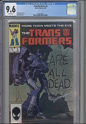 Transformers #5 9.6 Marvel 1986 Marvel Comic :  NEW Frame
