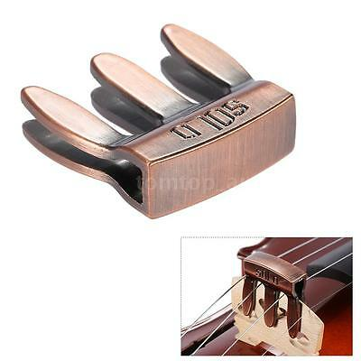 Violin Viola Practice Metal Mute Fiddle Silencer 3 Prong New B0F2
