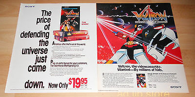 Voltron - Defender Of The Universe, 2 Adverts/ads 1985