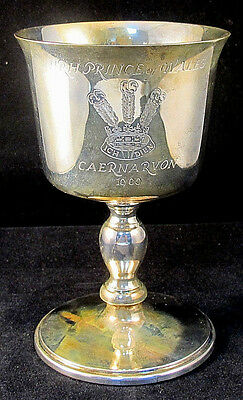 Sterling Silver HRH Prince Wales Investiture Goblet 1969 Limited Edition Box Inc