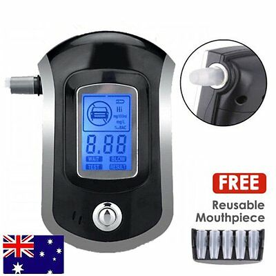 Portable Digital Alcohol Breathalyser Breath Tester Breathtester Blue LCD Hot AU