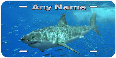 Shark Fish Any Name Text Personalized Novelty Car Auto License Plate