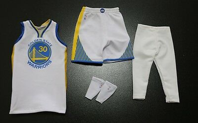 Custom 1/6 Stephen Curry Golden State Warrior jersey NBA TOYs 30 fit enterbay