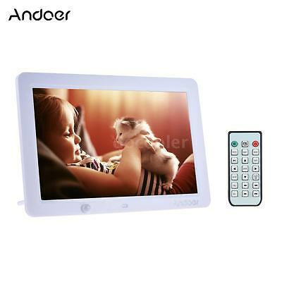 "12""inch HD 16:9 LED Digital Photo Picture Frame Movie Player Remote Control I6N4"