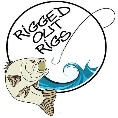RIGGEDOUT  STANDARD PENNEL 5 or 25 PULLEY & ALL STYLES sea fishing rigs COD BASS