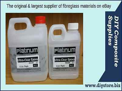 6 Ltr. Epoxy Ultra Clear Casting Resin 2:1 kit UV (Platinum)