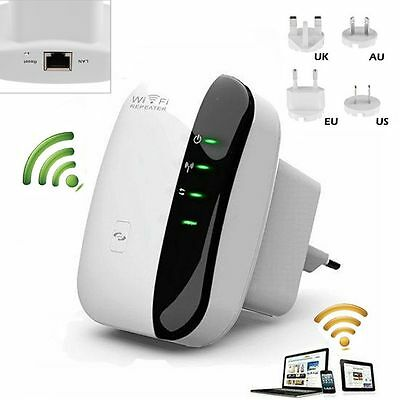 Wireless 300Mbps Wifi Repeater N 802.11 AP Range Router Signal Extender Booster