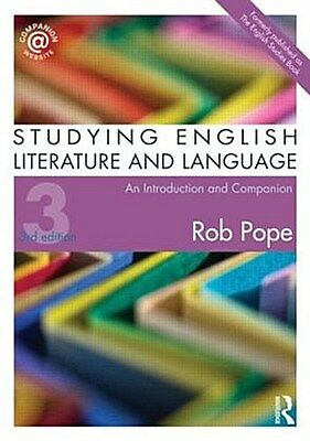 Studying English Literature and Language Rob Pope