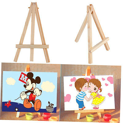 Kids Mini Wooden Easel Artist Art Painting Name Card Stand Display Holder ZX