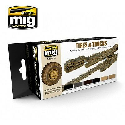 AMMO OF MIG TIRES & TRACKS SET Cod.AMIG7105
